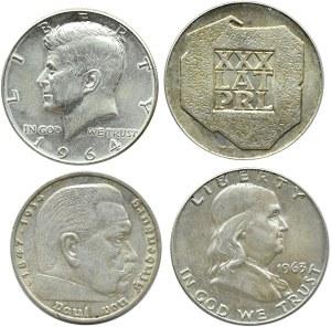 USA/Niemcy/Polska, lot 4 srebrnych monet