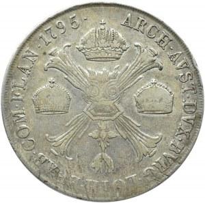 Austria, Franciszek II, 1 talar 1795 M, Mediolan