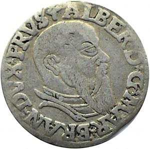 Prusy Książęce, Albrecht, trojak 1543, Królewiec