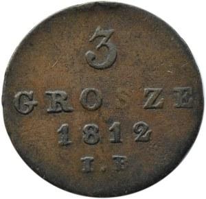 Księstwo Warszawskie, 3 grosze 1812 I.B., Warszawa