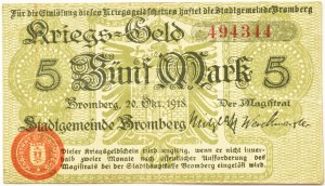 Bromberg, Bydgoszcz, 5 marek 1918, numer 494344