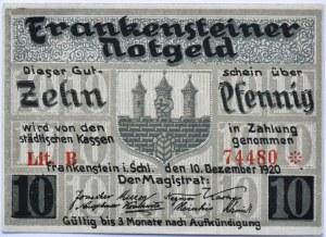 Frankenstein, Ząbkowice Śląskie, 10 pfennig 1920, UNC