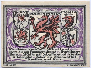 Politz, Police, 25 pfennig 1921, UNC