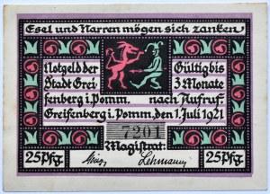 Greifenberg, Gryfice, 25 pfennig 1920, UNC