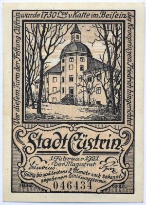 Kustrin, Kostrzyn n/Odrą, 50 pfennig 1921, UNC