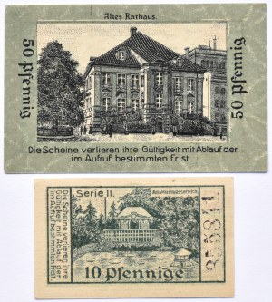 Liegnitz, Legnica, lot 2 notgeldów bez daty, UNC