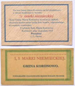 Koronowo, lot 2 bonów 1918 roku
