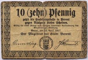 Berent, Kościerzyna, 10 pfennig 1917, rzadkie
