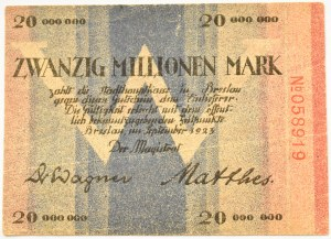 Breslau, Wrocław, 20 milionów marek 1923
