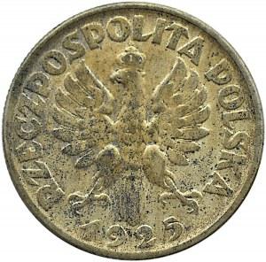Polska, II RP, Kłosy, 2 złote 1925 bez kropki, Warszawa