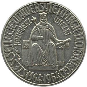 Polska, PRL, 100 złotych 1964, Kazimierz Wlk. orzeł w koronie, próba, nikiel, UNC