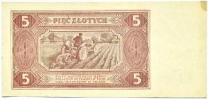 Polska, RP, 5 złotych 1948, seria BF, Warszawa