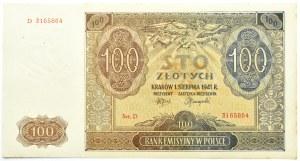 Polska, Generalna Gubernia, 100 złotych 1941, seria D