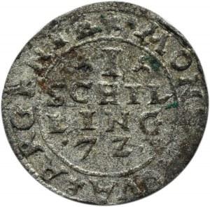Inflanty, szeląg Dahlen 1572 - rozetka, R3!