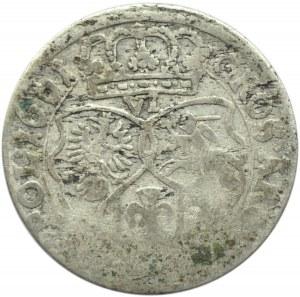 Jan II Kazimierz, szóstak 1661 TT, Bydgoszcz, odmiana z obwódkami (R), SVE