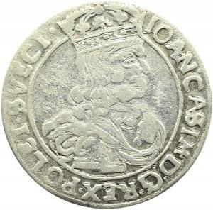 Jan II Kazimierz, szóstak 1662 AC-PT, Kraków, Rzadki R1/R2