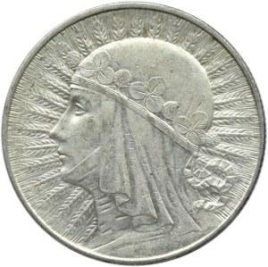Polska, II RP, Głowa kobiety, 5 złotych 1933, Warszawa