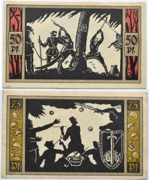 Przyschetz, Przysiecz, lot 2 notgeldów 1921, piękne