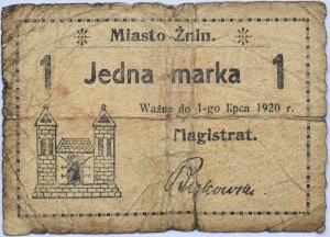 Znin, Żnin, 1 marka ważny do 1 lipca 1920