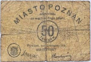 Posen, Poznań, 50 fenigów 1919