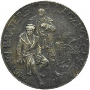 Polska/Rosja, medal Rosjanie Braciom Polakom, Petersburg 1914, srebro