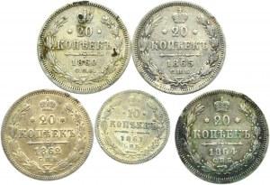 Rosja, Aleksander II, lot kopiejek 1860-65, Petersburg