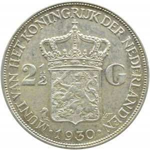 Holandia, Wilhelmina, 2,5 guldena 1930