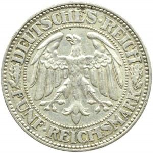 Niemcy, Republika Weimarska, Dąb, 5 marek 1929 A, Berlin