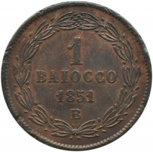 Watykan, Pius IX, 1 baiocco 1851 B, Bolonia