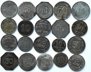Niemcy, XX wiek, lot notgeldów 20 sztuk, wysokie nominały