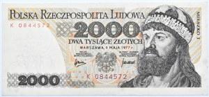 Polska, PRL, 2000 złotych 1977, seria K, Warszawa