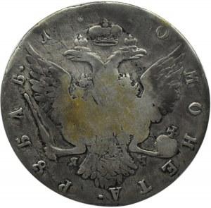 Rosja, Katarzyna II, 1 rubel 1770 Ja Cz, Petersburg