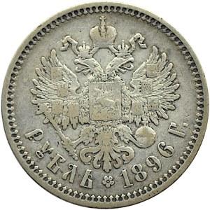 Rosja, Mikołaj II, 1 rubel 1896 AG, Petersburg