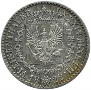 Niemcy, Prusy, Fryderyk Wilhelm III, 1/6 talara 1822 A, Berlin