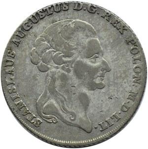 Stanisław A. Poniatowski, talar sześcio-złotowy 1794, Warszawa