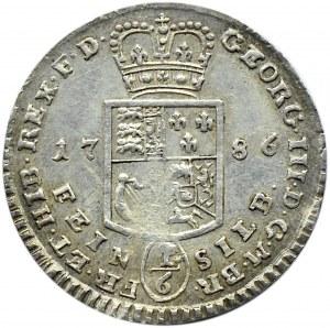 Niemcy, Braunschweig-Lüneburg, 1/6 talara 1786, Brunszwik