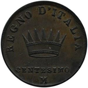 Włochy, Napoleon Bonaparte, 1 centesimo 1811 M, Mediolan