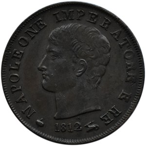 Włochy, Napoleon Bonaparte, 1 centesimo 1812 M, Mediolan