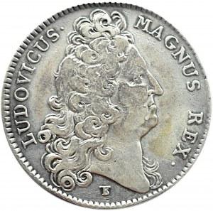 Francja, Ludwik Wielki, żeton Bretania (Zgromadzenie Stanów) 1709