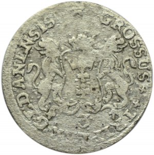 August III Sas, trojak 1758, Gdańsk, R2