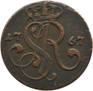 Stanisław A. Poniatowski, grosz 1767 G, Kraków