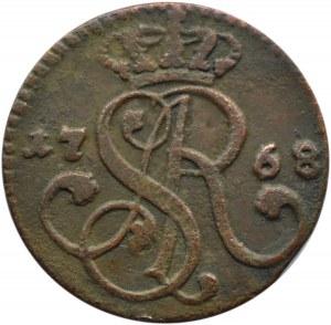 Stanisław A. Poniatowski, grosz 1768 G, Kraków