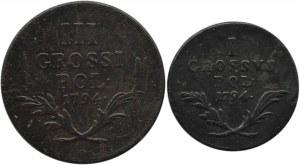 Galicja i Lodomeria, lot grosza i trojaka 1794, Wiedeń