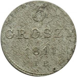 Księstwo Warszawskie, 5 groszy 1811 I.B., Warszawa, przebitka