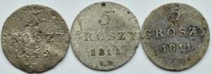 Księstwo Warszawskie, lot 5 groszy 1811-1812 I.B., Warszawa
