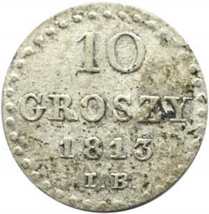 Księstwo Warszawskie, 10 groszy 1813 I.B., Warszawa