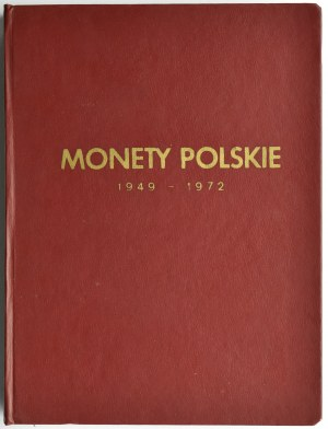 Polska, PRL, zestaw monet w klaserze Fischera 1949-72