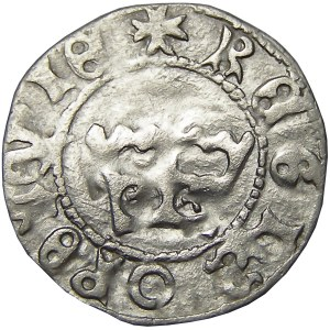 Jan I Olbracht, półgrosz bez daty, Kraków, wewnętrzny pierścień na rewersie (R1)
