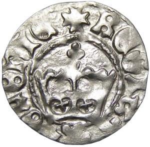 Jan I Olbracht, półgrosz bez daty, Kraków, herb Poraj