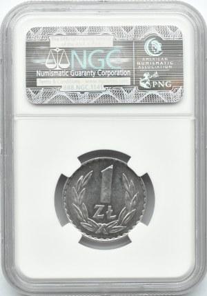 Polska, PRL, 1 złoty 1974 ze znakiem mennicy, NGC MS64